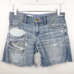 Gap - Distressed Denim Boyfriend Shorts